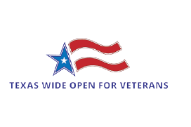 Texas wide open for veterans logo